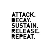Attack Decay Sustain Release Repeat weiß by dresdner