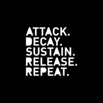 Attack Decay Sustain Release Repeat schwarz by dresdner