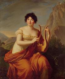 Madame de Stael as Corinne  von Firmin Massot