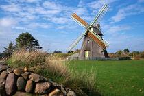 Windmühle von Nebel auf Amrum, Nordfriesland, Deutschland von alfotokunst