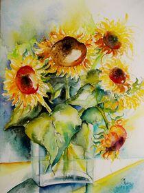 Vase mit Sonnenblumen von Dorothy Maurus