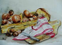 Korb mit Pilzen by Dorothy Maurus