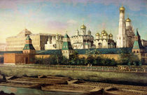 View of the Moscow Kremlin from the Embankment  von Nikolai Ivanov Podklutchnikov