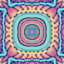 Abstract Turquoise Mandala by Phil Perkins