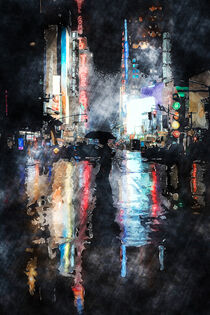 Rainy Night In New York by Phil Perkins