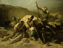 Transporting Stone Blocks  by Friedrich von Keller