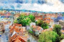 Die Altstadt von Erfurt von oben. Stadtansicht. von havelmomente
