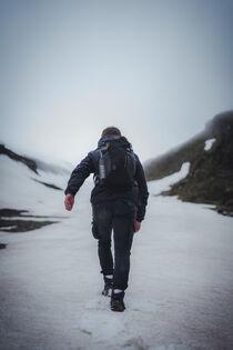 Wanderer in Schneelandschaft by Paul Simon