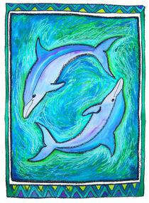 Delphine in Blau von Bärbel Stangenberg