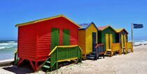 colorful changing huts by Werner Lehmann
