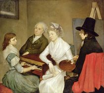 Self Portrait with Family  by Georg Ludwig Eckhardt