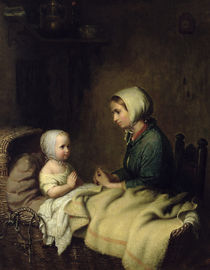 Little Girl Saying Her Prayers in Bed  by Meyer von Bremen