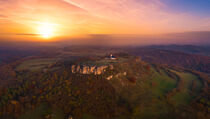 Aerial view of Staffelberg mountain by raphotography88