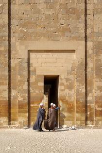 Ägypter in der Nähe der Djoser Pyramide von Berthold Werner