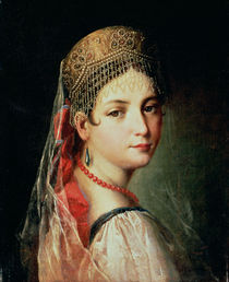 Portrait of a Young Girl in Sarafan and Kokoshnik by Mauro Gandolfi