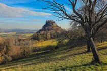 Blick auf den Hegauberg Hohenkrähen - Landkreis Konstanz von Christine Horn