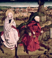 The Schotten altarpiece depicting the Flight into Egypt by Master of the Schotten Altar