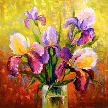 Bouquet of irises by Olha Darchuk