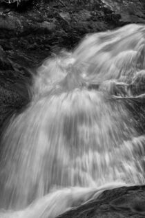 Black And White Waterfall by Phil Perkins