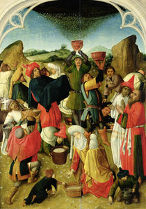Gathering of the Manna  by Master of the Gathering of the Manna