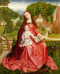 Virgin and Child in a Garden  von Master of the Embroidered Foliage