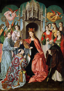 Presentation of the Chasuble to St. Ildefonso  von Master of San Ildefonso