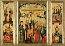 Triptych depicting the Crucifixion of Christ von Master of Cologne