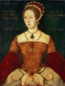 Portrait of Mary I or Mary Tudor  von Master John