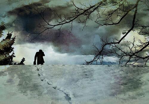 Man-in-snow