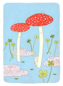 Lucky pig with puddle von Ayumi Yoshikawa