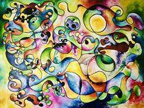 """moving"" - Öl auf Holz | Cubism | living Colours  von Valentina Sullivan"