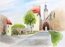 Westtor der Burg Querfurt von Heike Jäschke