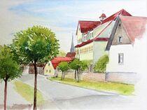 Dorfansicht in Barnstädt von Heike Jäschke