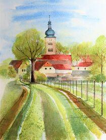 Hinter den Gärten in Nemsdorf von Heike Jäschke