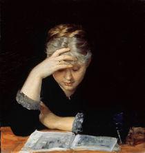 At a Book  von Maria Konstantinova Bashkirtseva