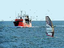 Windsurfer und Kutter von vogtart