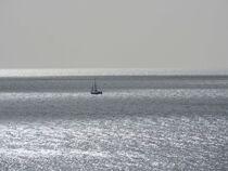 Minimalismus Meer in schwarz-weiß von vogtart