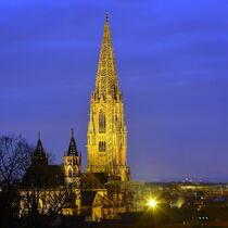 Illuminiertes Münster Freiburg von Patrick Lohmüller