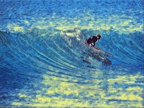 Surfing wave by vogtart