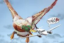 Enten-Angriff, (Version mit Sprechblase)