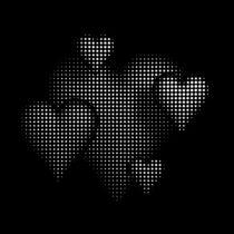Halbton Muster Herzen schwarzweiß by dresdner