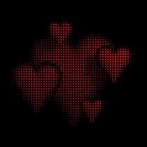 Halbton Muster Herzen schwarz rot by dresdner
