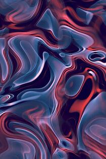 Abstrakte Flammen blau-orange by dresdner
