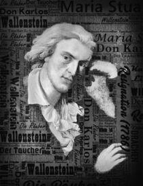 Friedrich Schiller Modernes Porträt Monochrome von DoC GermaniCus Fotografie