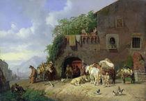 Italian Village Forge  by Heinrich Burkel