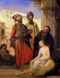 A Slave Market in Asia Minor  von Louis Devedeux