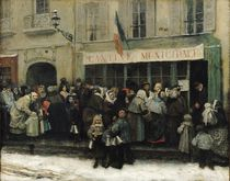 A Soup Kitchen during the Siege of Paris by Henri Pille