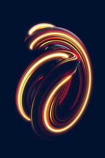 Wirbelnder Farbstreifen-Tropfen 1 by dresdner