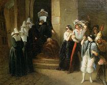 The Masked Ball by Henri Victor Deveria