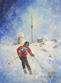 Skiing Down The Pic Du Midi von Miki de Goodaboom
